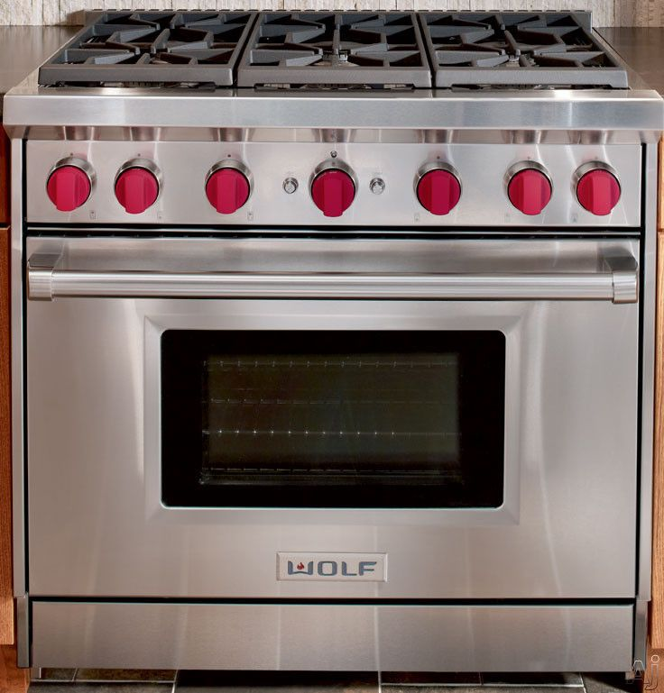 Wolf Gr366 36 Pro Style Gas Range With 6 Dual Stacked Sealed