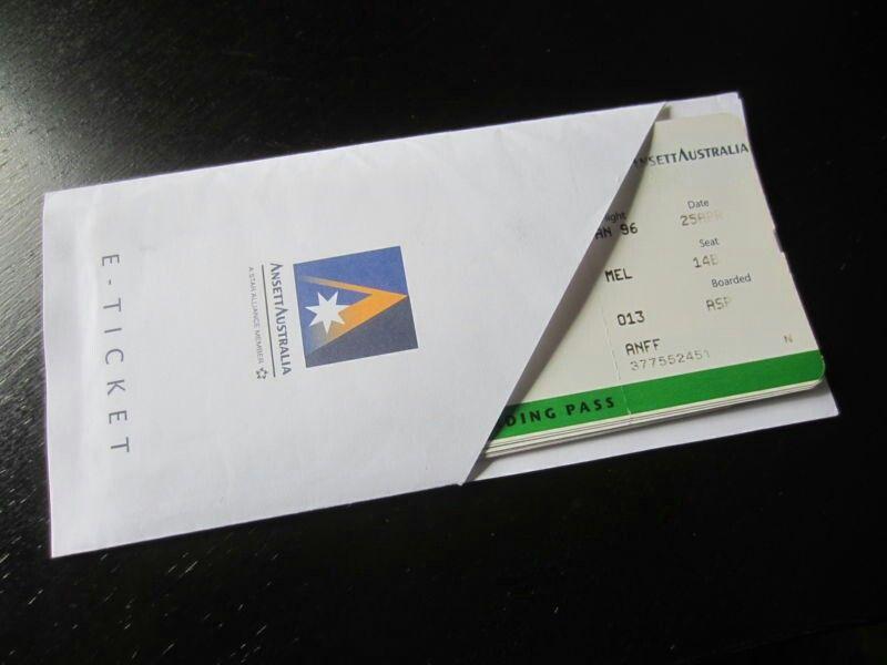 Ansett Australia Vintage E Ticket Boarding Pass Jacket Ansett