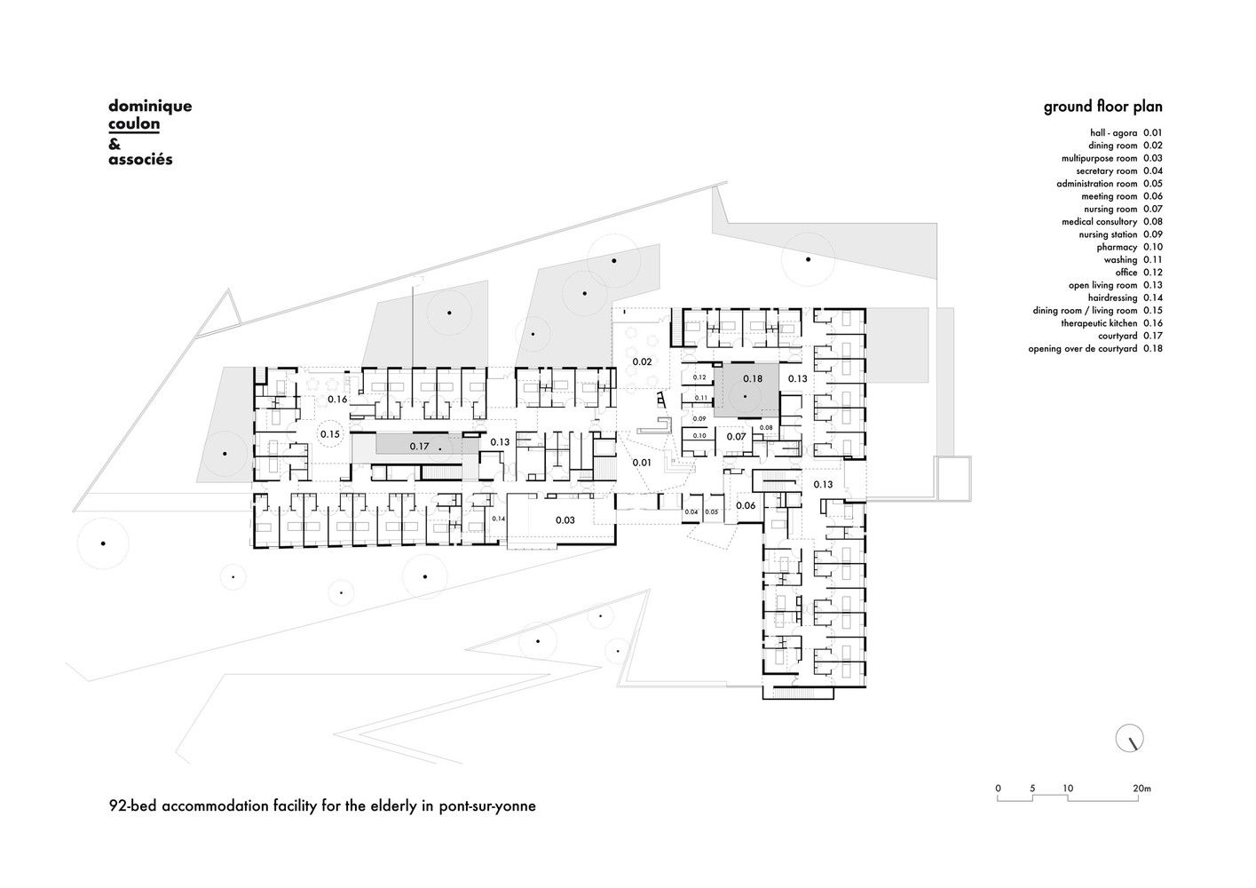Gallery Of 92 Bed Nursing Home Dominique Coulon