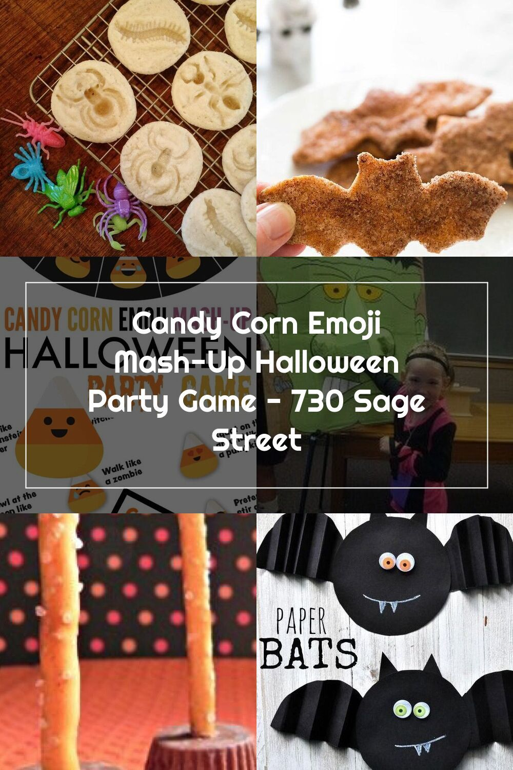 Candy Corn Emoji MashUp Halloween Party Game 730 Sage