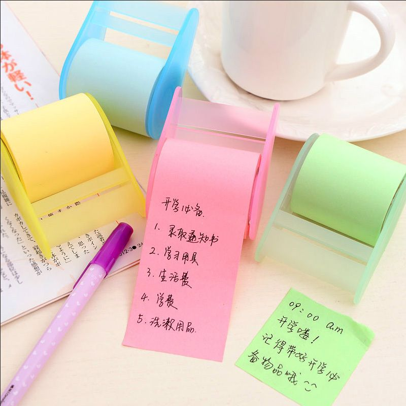 1 X Fluorescent Paper Sticker Memo Pad Sticky Notes Post It Kawaii