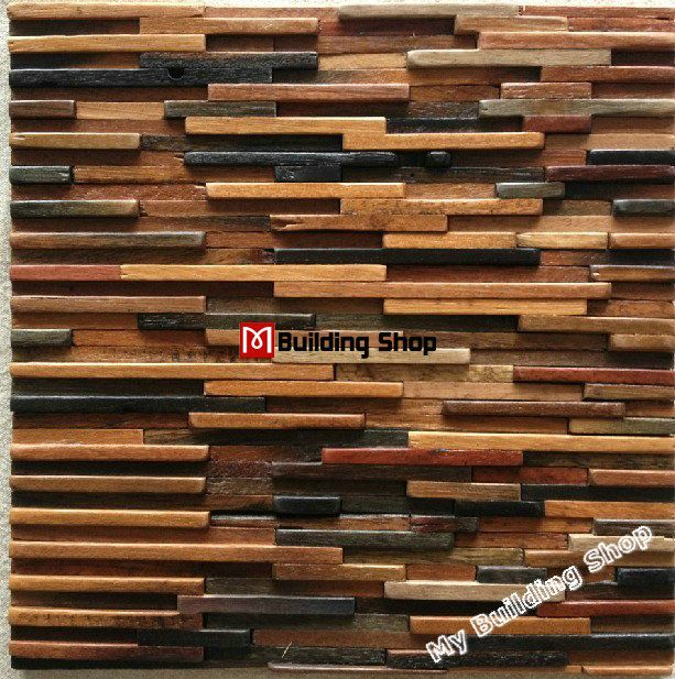 3d Wall Tiles For Kitchen: Natural Wood Mosaic Tile 3D Wall Pattern NWMT021 Kitchen