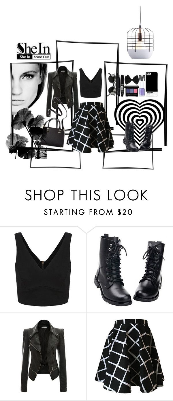 """""""Black V Neck"""" by mild-red-1 ❤ liked on Polyvore featuring GE, Humble Chic and Zuo"""