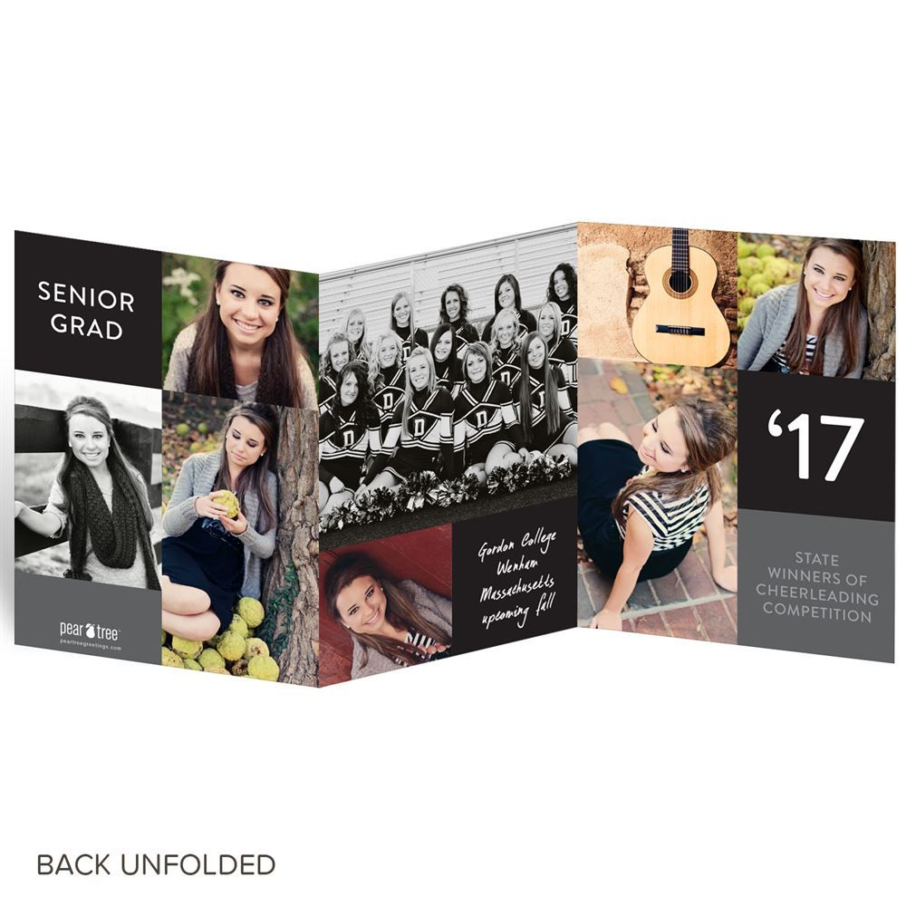 color block trifold graduation announcements - Tri Fold Graduation Invitations