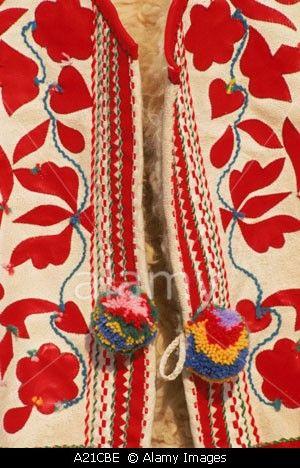Goralská vestička s výšivkou a brmbolcami traditional - embroidery - waistcoat - Goral - mountains - Slovakia