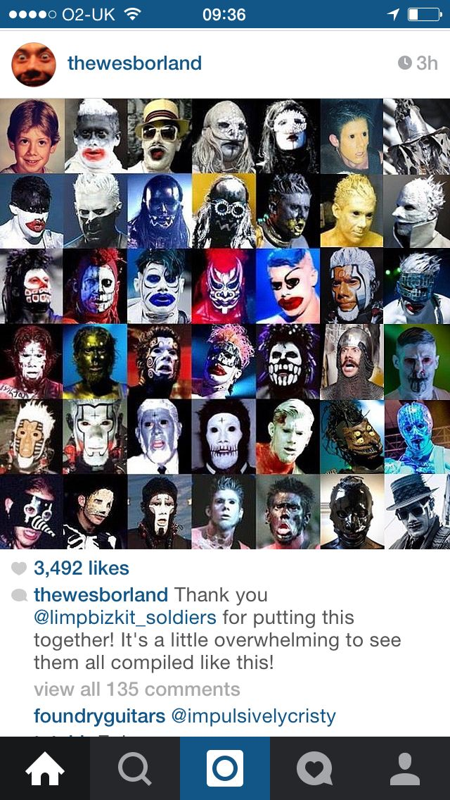 Lyric limp bizkit nookie lyrics : The many faces of Wes Borland | We'd Borland | Pinterest | Face ...