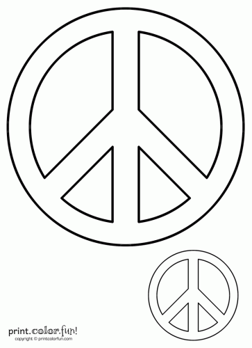 free kids stencils to print | Peace sign | Print. Color. Fun! Free ...