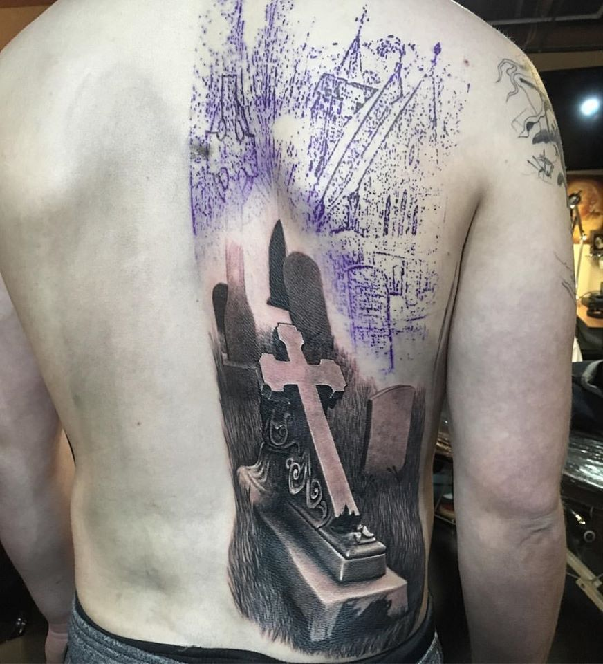Cemetery Tattoo Ideas Graveyard Tattoos Scary Tattoos Skull Tattoos Tombstone Tattoo Ideas Haunted Tattoos H Tattoo Designs Tattoos Tattoos With Meaning