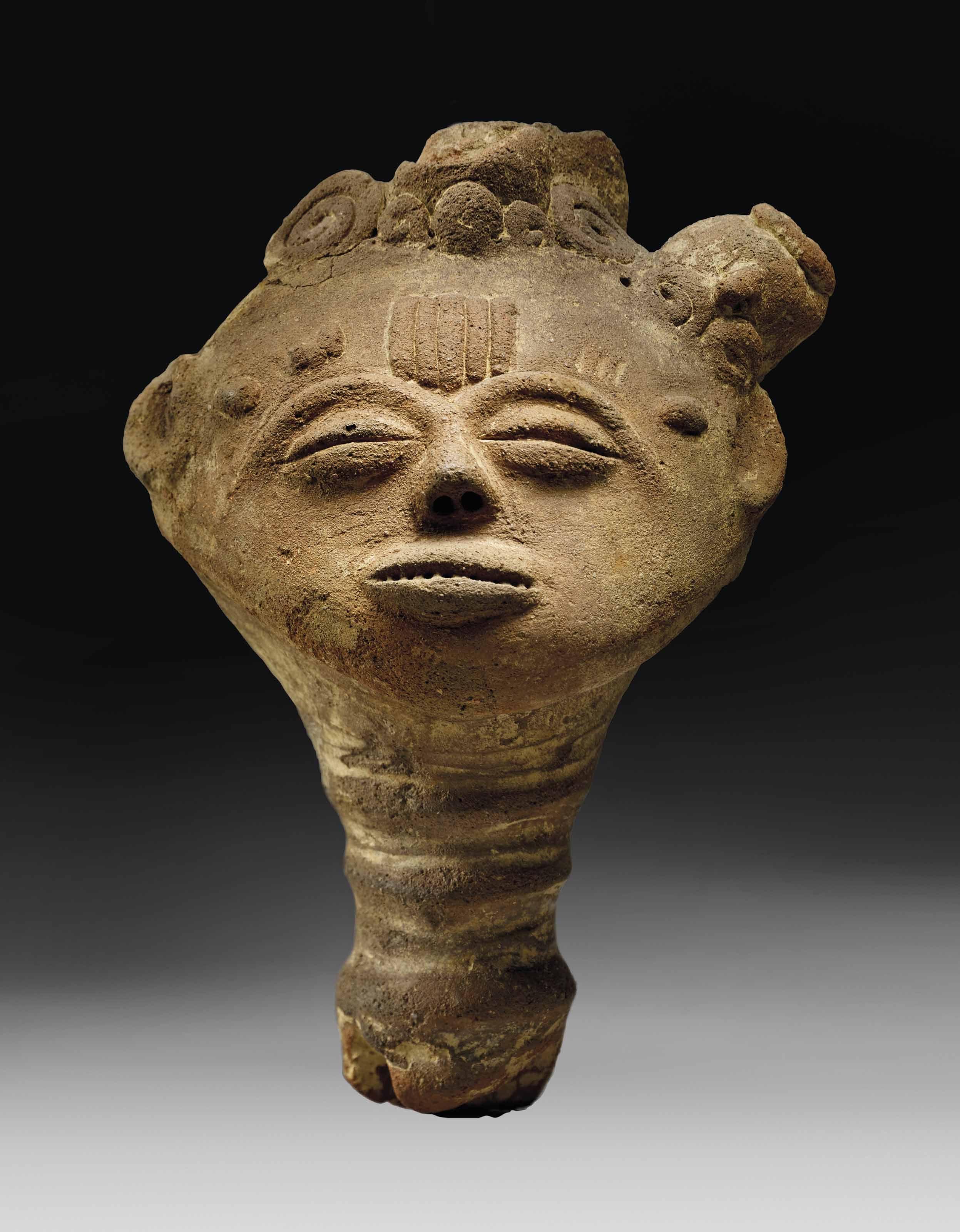 Tete Commemorative D Ancetre Akan Region Twifo Ville D Hemang Nsodie An Akan Commemorative Head Of An Ancest Ceramic Art Sculpture African Art Sculpture Art