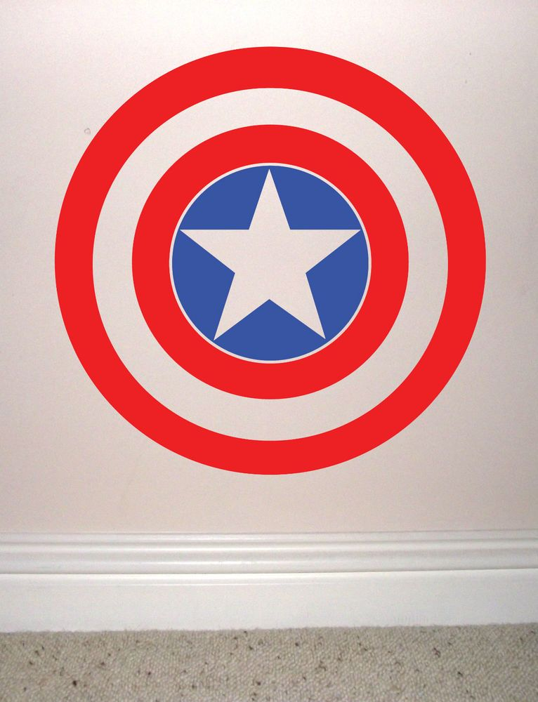 Captain America Shield Wall Sticker Vinyl Decal Avengers Assemble - Vinyl wall decals avengers