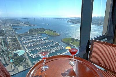 top of the hyatt san diego great place to drinks fav. Black Bedroom Furniture Sets. Home Design Ideas