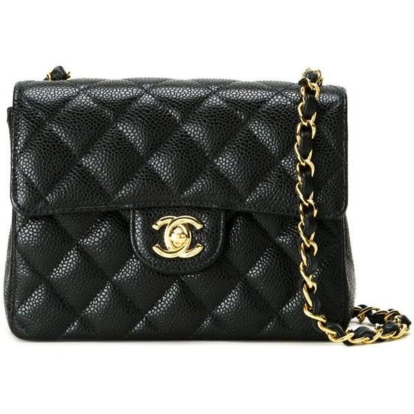 f0c0b94ffd7e Chanel Vintage Small Quilted Crossbody Bag ($6,172) ❤ liked on Polyvore  featuring bags,
