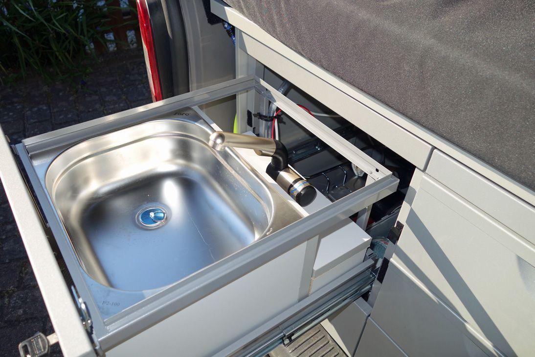 Wasserhahn Und Waschbecken Im T5 Selbstbau Camper Wasser