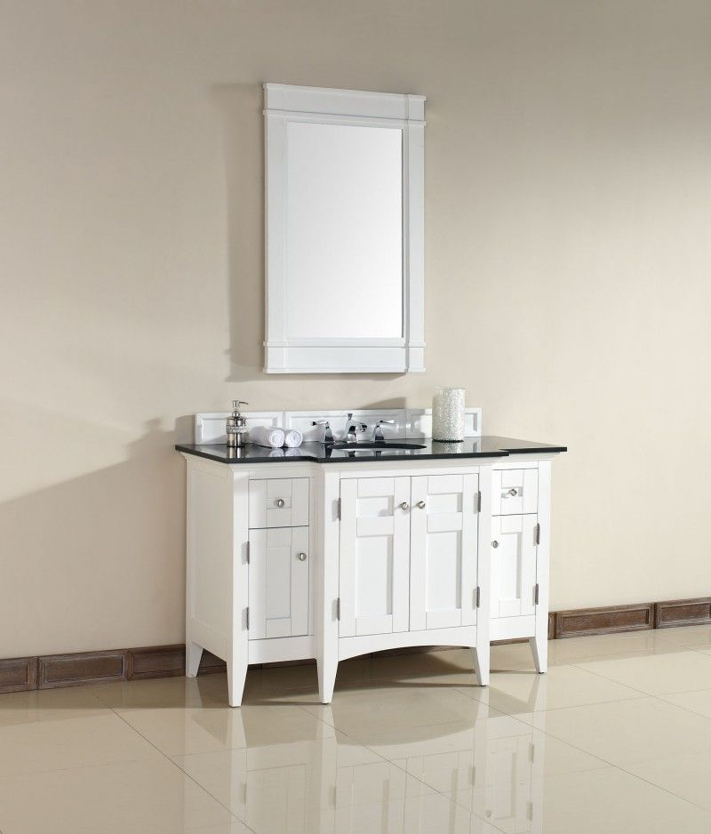 53 Inch Bathroom Vanity. North Hampton 53 Inch Pure White Bathroom Vanity Granite Top