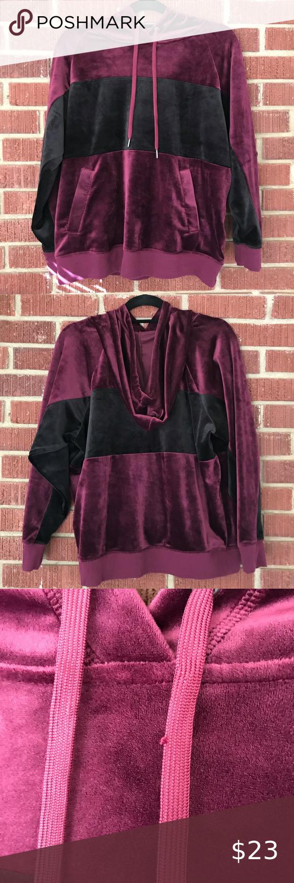 Champion Elite Velour Hoodie Size M Velour Hoodie Hoodies Sweatshirt Tops [ 1740 x 580 Pixel ]