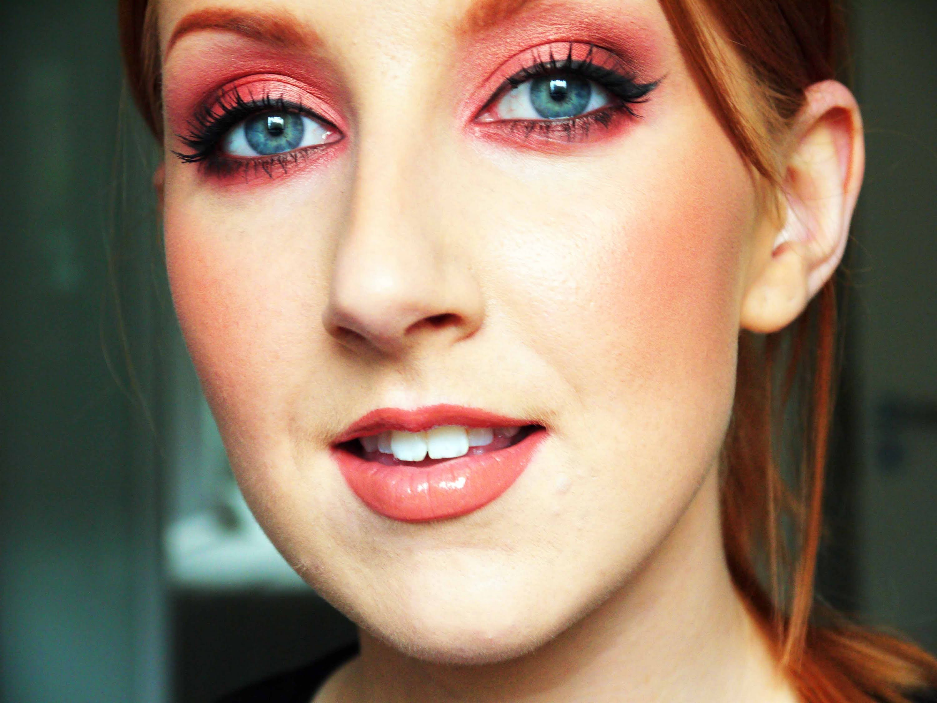 copper makeup tutorial, great for green or blue eyes