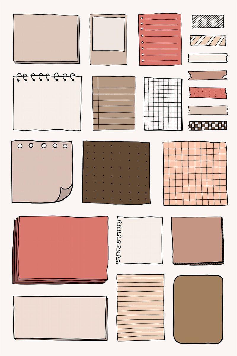 Download premium vector of Blank reminder paper no