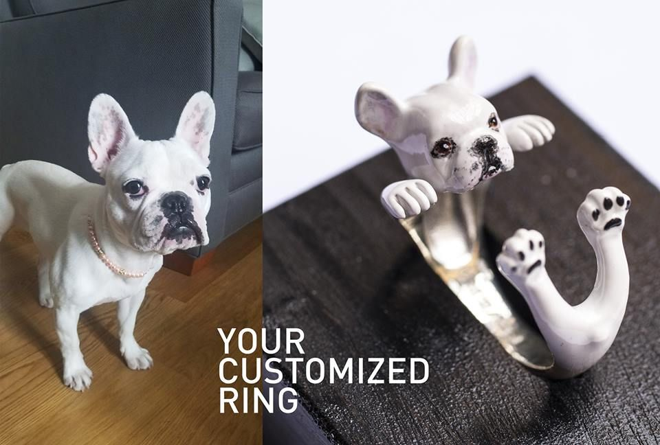 Custom Enamel Pained Dog Breed Rings Make Very Special And Unique