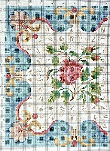 Mosaic Patterns Miniature Needlework Chart Left Side