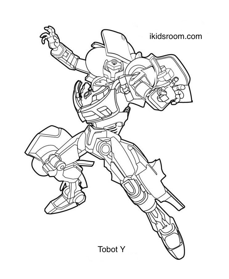 Tobot Y Coloring Pages In 2020 With Images Power Rangers
