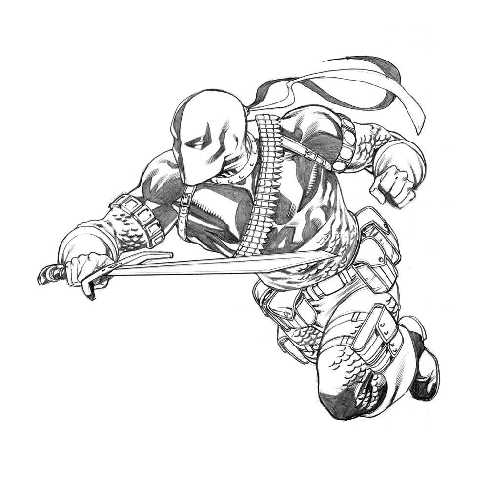 Deadpool Tattoo Outline: Deathstroke The Terminator