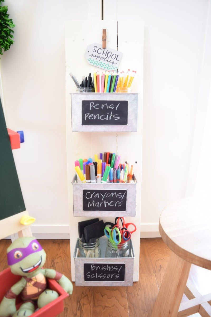 Back to school style guide: DIY farmhouse organizer display for ...