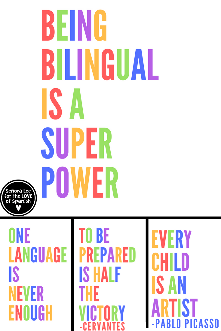 Spanish Posters 6 Posters In Spanish English For Classroom Bulletin Boar Middle School Spanish Lessons Learning Spanish For Kids Spanish Teaching Resources