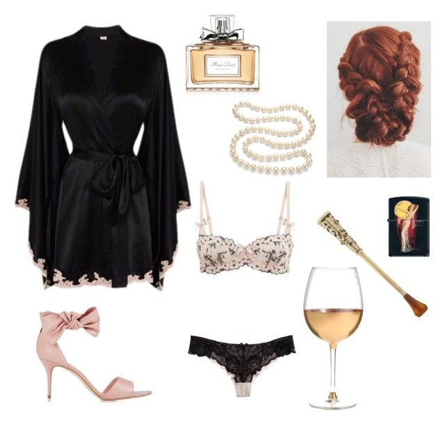 """Midnight smoke and wine"" by jill-kori on Polyvore featuring L.K.Bennett, Agent Provocateur, L'Agent By Agent Provocateur, Boucheron, Marc Blackwell, Christian Dior, Zippo and DaVonna"
