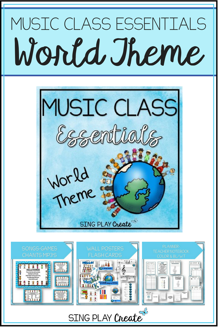 Music Class World Theme Curriculum Songs Games Lessons Decor