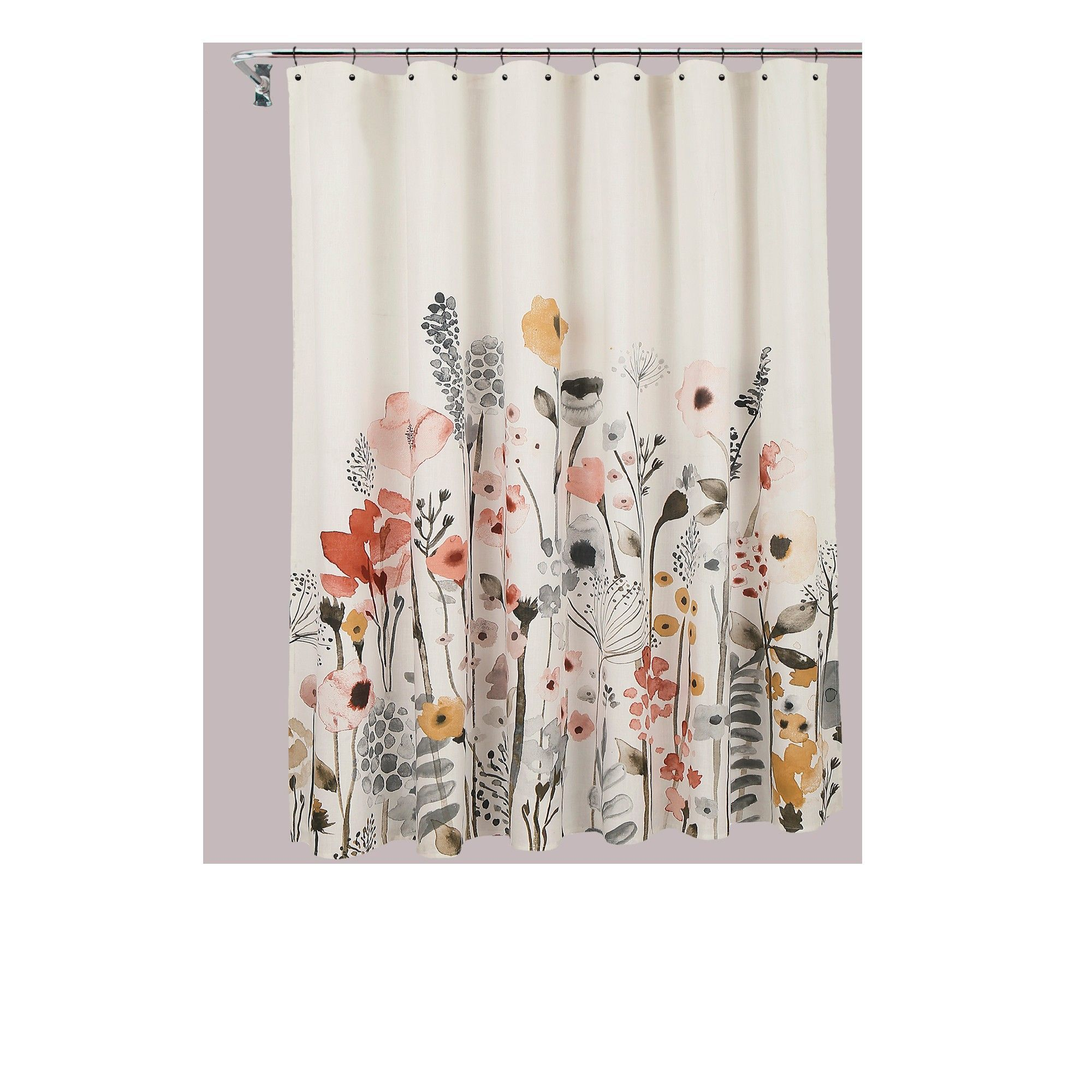 Shower Curtain Floral Wave Threshold With Images Floral
