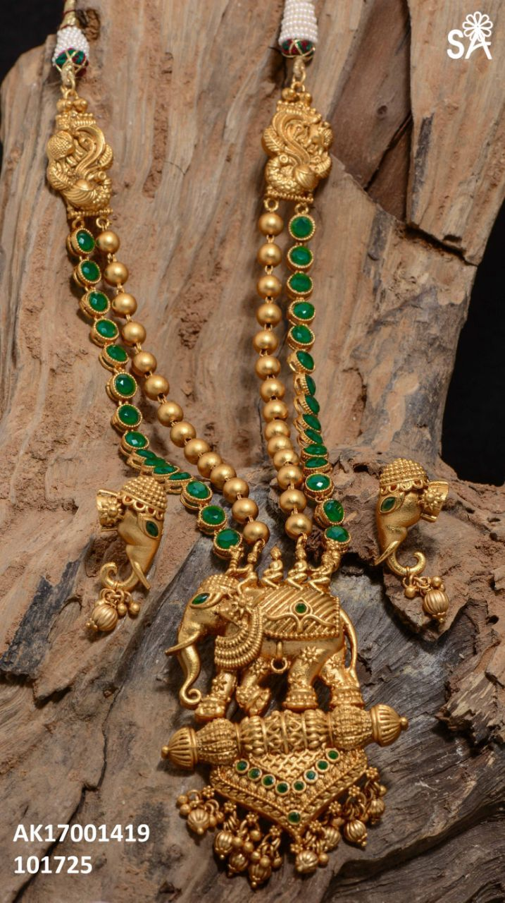 Exclusive one gram neck sets terracotta pinterest gold