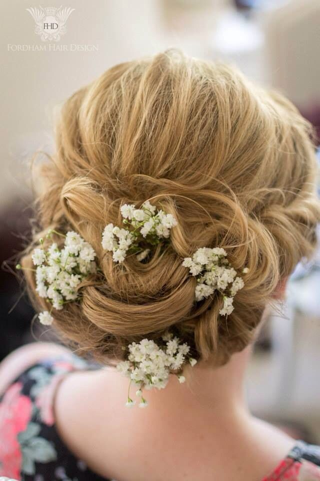 Bridesmaid Gypsophila Up Do