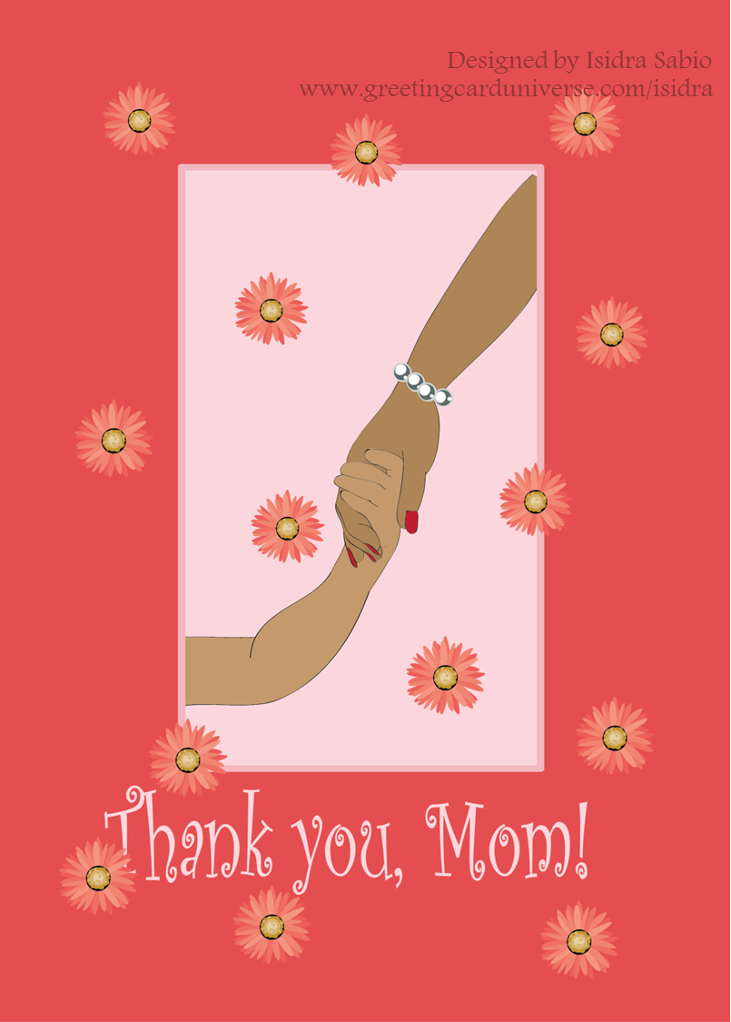 Mothers Day Greeting Card Show A African American Black Mother