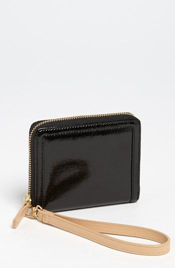 d34fc583964c10 Halogen 'Small' Leather Wristlet | Nordstrom Patent Leather, Zip Around  Wallet, Wallets