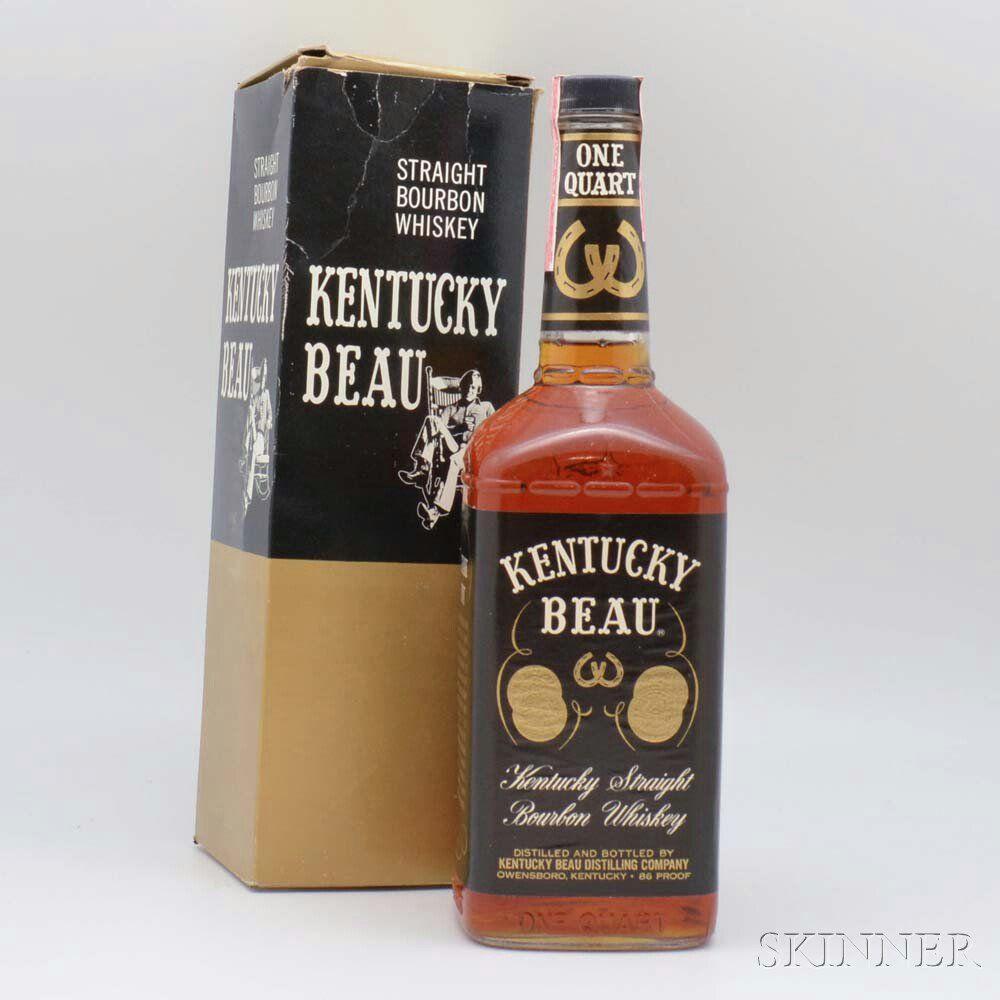Kentucky Beau Straight Bourbon Whiskey 1 4 5 Quart Bottle Oc Sale Number 2984t Lot Number 1613 Skinner Auctioneers Whiskey Bourbon Whiskey Bourbon