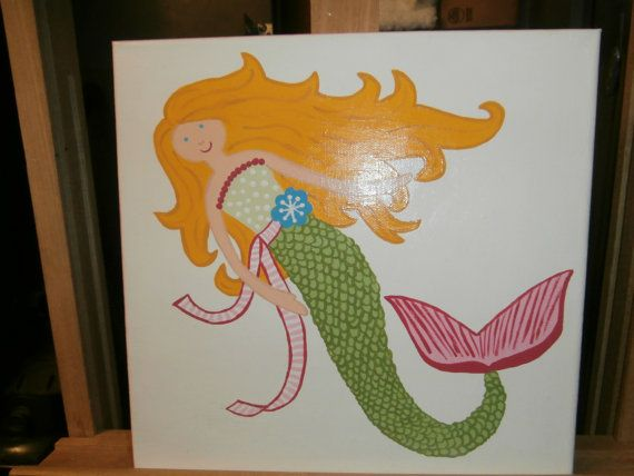 Mermaid Wall Art Inspired By Pottery Barn Kids By