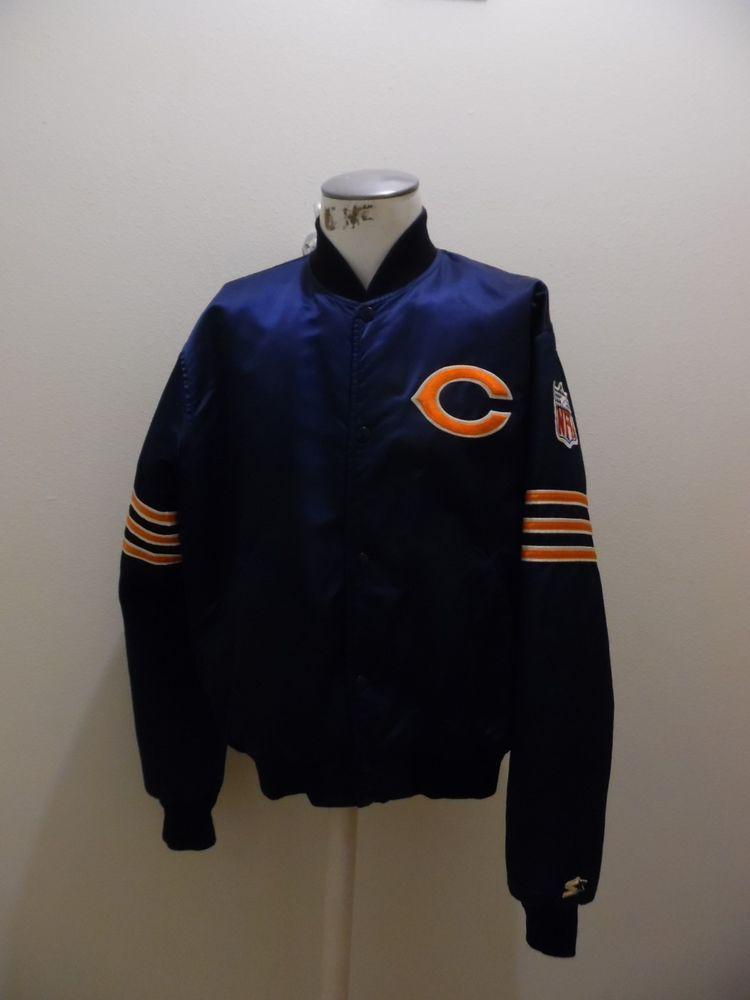Chicago Bears Vtg 80s 1985 Starter Satin Jacket jersey Payton Ditka  #ChicagoBears