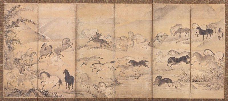 Asian screen at the Corfu museum, Greece