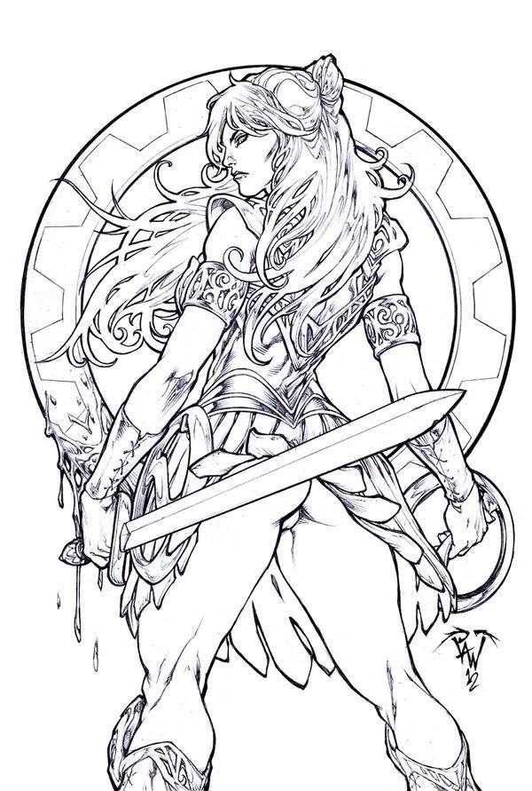 Xena The Warrior Princess By Paolo Pantalena