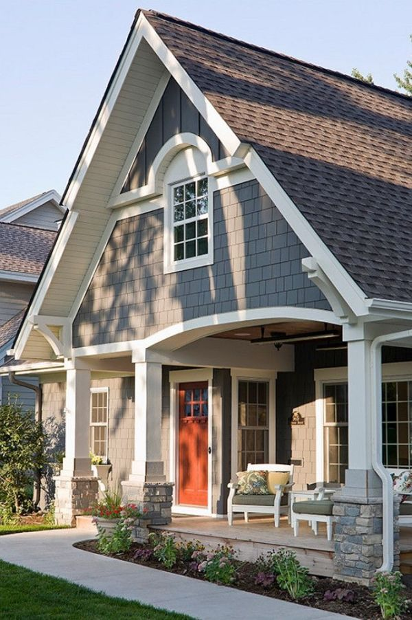 Exterior Paint Color Ideas. Sherwin Williams SW 7061 Night Owl.  #SherwinWilliams #SW7061