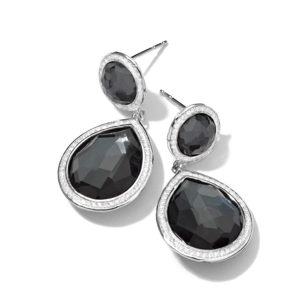 Sterling Silver Stella 2-Stone Drop Earrings - Stella - Shop By Collection | IPPOLITA