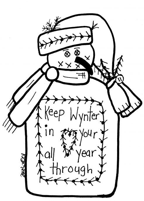 graphic about Free Printable Primitive Snowman Patterns identified as Absolutely free Printable Primitive Snowman Styles Free of charge Solutions