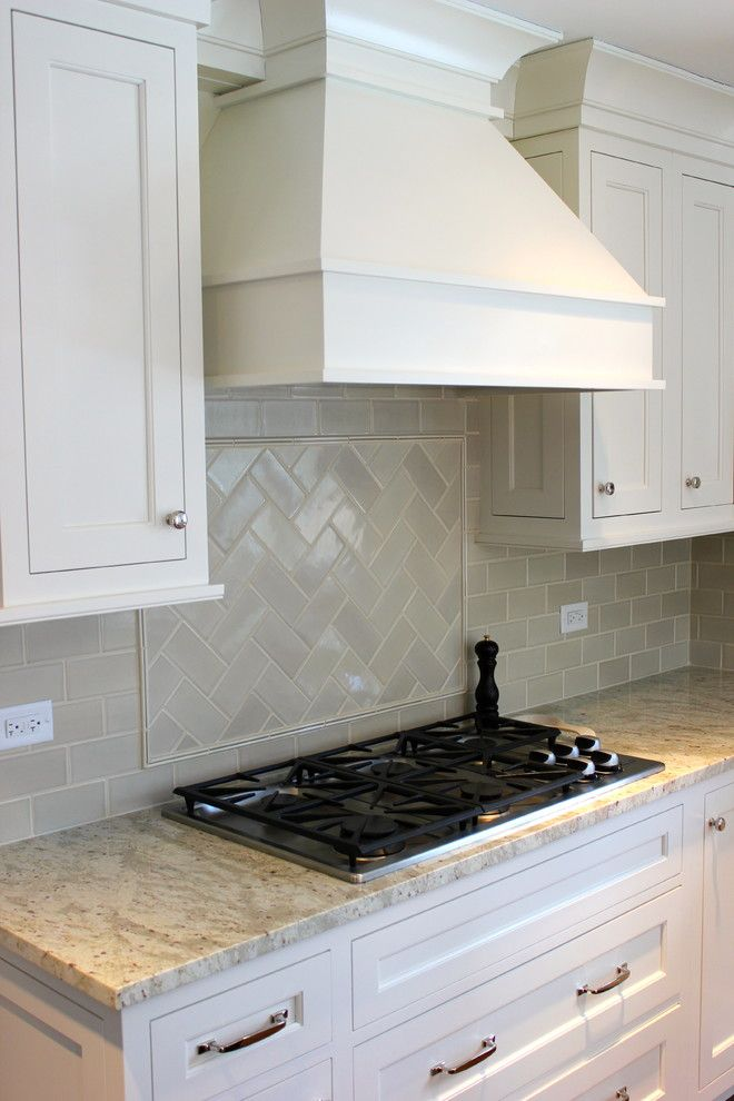 Decorative Subway Tile Backsplash Designs Image Gallery In Kitchen Transitional Design Ideas
