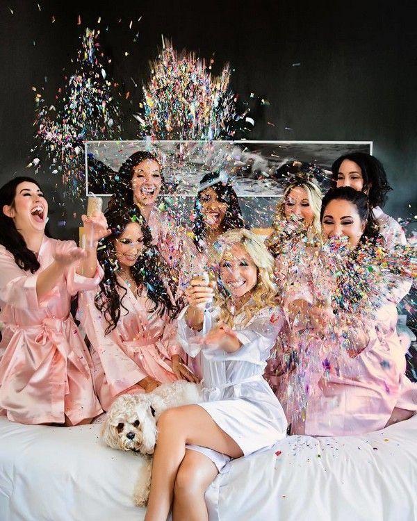 Ideas para fotos de bodas: prepare las fotos de bodas con sus damas de honor #High …