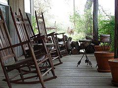the porch...