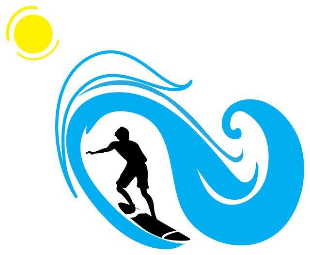 surf wave clipart clipartfest beach surf themed kid min rh pinterest com Sun Over Ocean Clip Art Seahorse Clip Art
