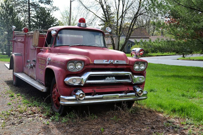 vintage GMC fire truck LeSeur Fire Department - Centuria, WI | Flickr - Photo Sharing!