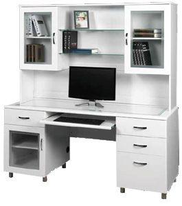 Ubiz Furniture Genx White Credenza Desk Hutch Cta820 5cw