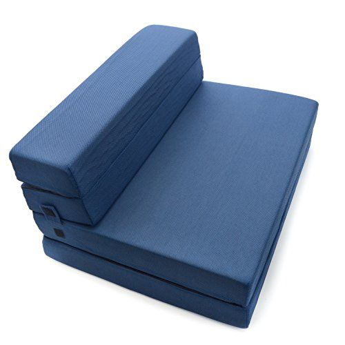 Milliard tri fold foam folding mattress and sofa bed for for Tri fold futon mattress cover