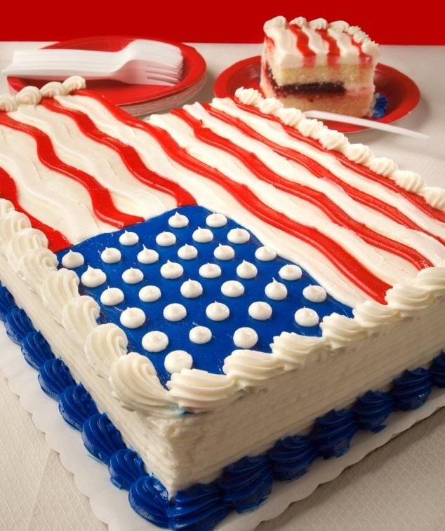 Pictures Of Patriotic Cakes With Images 4th Of July Cake